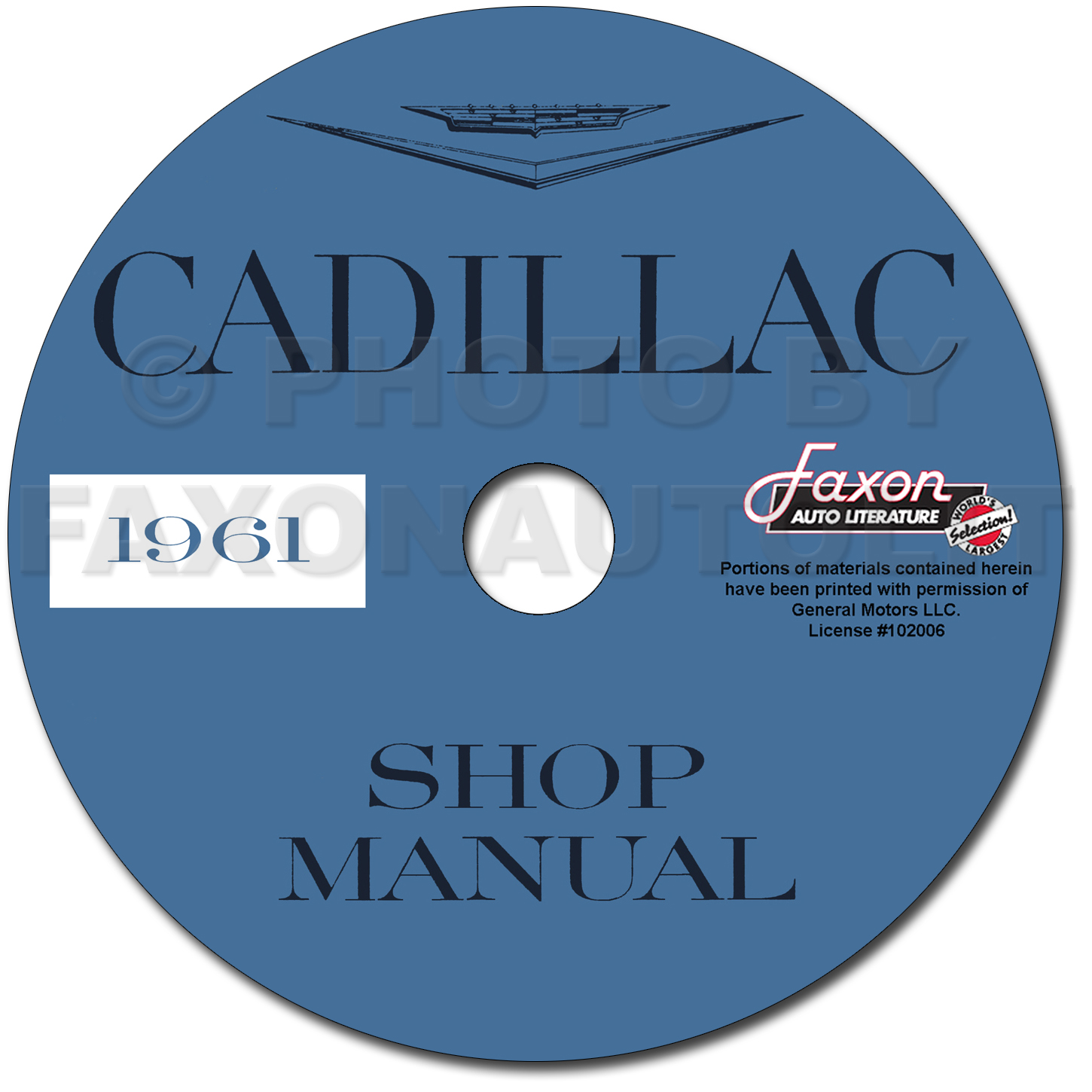 1961 Cadillac Shop Manual on CD-ROM