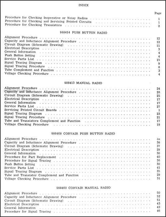 1961 Chevy Radio Manual Original Car Corvette Truckrhfaxonautoliterature: 1961 Corvair Wiring Diagram Radio At Gmaili.net
