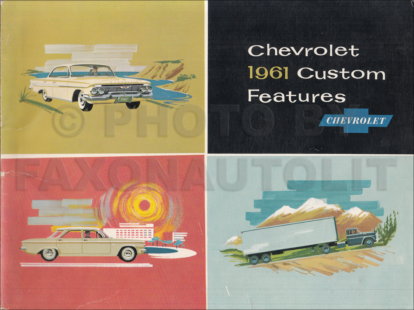 1961 Chevrolet Custom Feature Accessories Dealer Album Original