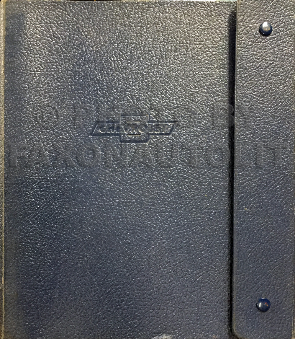 1961 Chevrolet Truck Data Book Original
