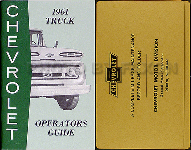 1961 Chevrolet Pickup & Truck Reprint Owner's Manual Package