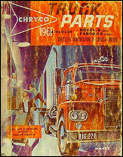 Dodge Truck Parts >> 1961 Canadian Dodge Truck And Fargo Parts Book Original