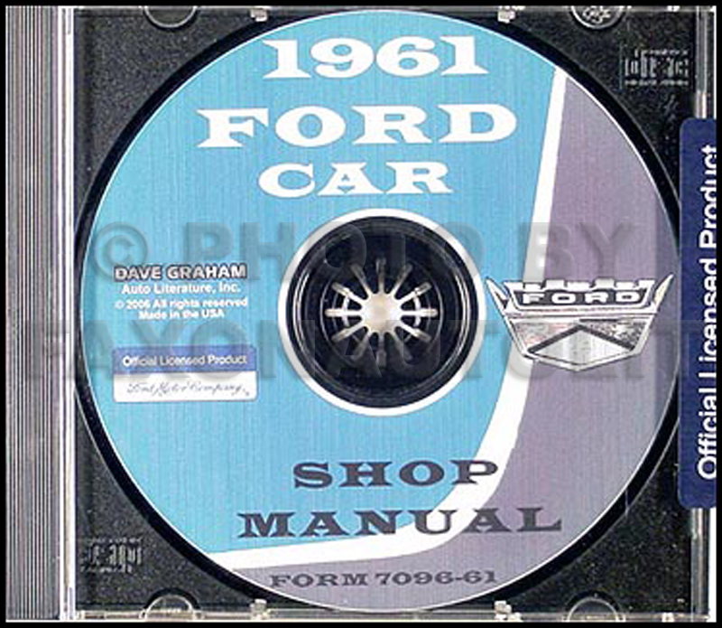 1961 Ford Car Shop Manual on CD-ROM