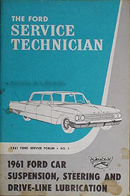 1961 Ford Car Lubrication Guide Service Training Manual Original