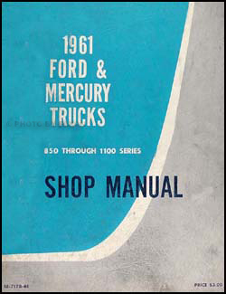 1961 Ford Mercury Heavy 850-1110 Truck Canadian Repair Shop Manual Original