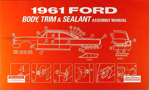 1961 Galaxie  U0026 Fairlane Wiring Diagram Manual Reprint