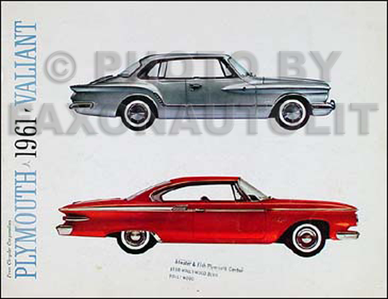 1961 Plymouth Original Sales Catalog for all models