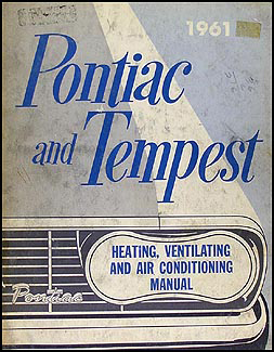 1961 Pontiac Air Conditioning Repair Manual Original