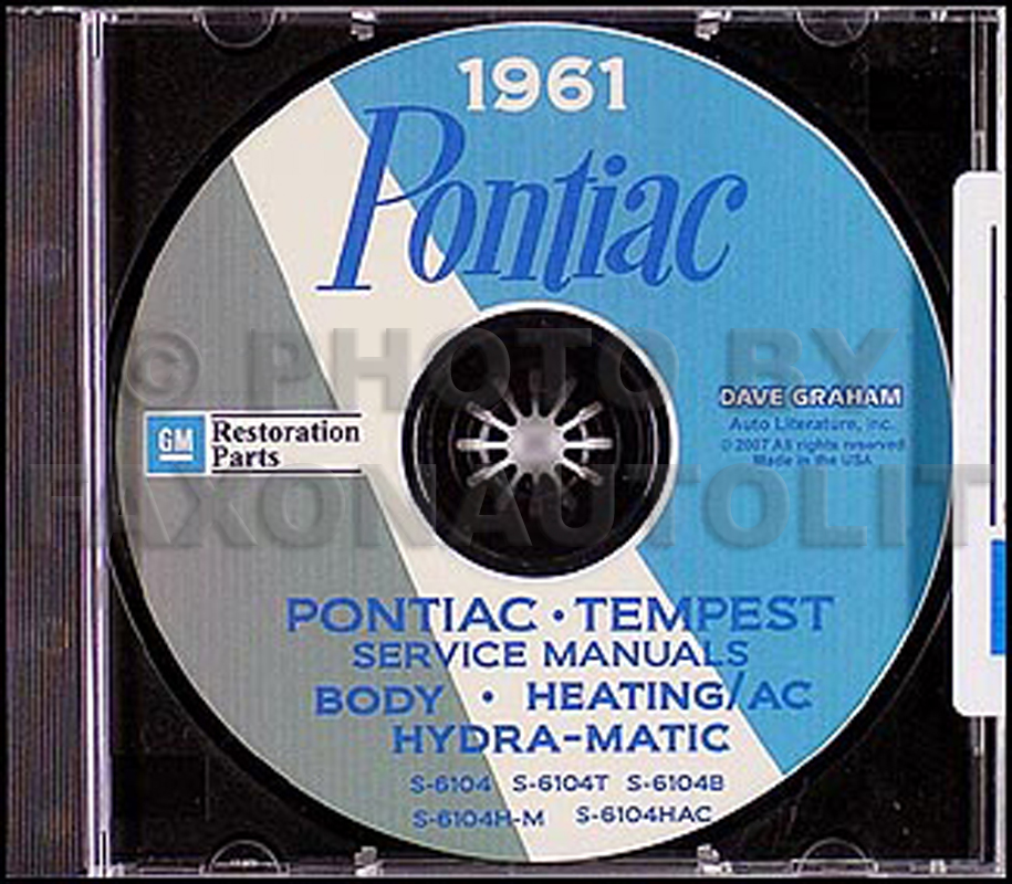 1961 Pontiac CD Shop Manual with Body, Hydra-Matic, & A/C Manuals