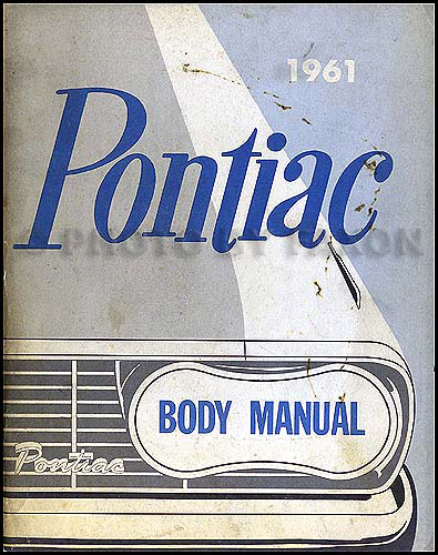 1961 Pontiac Body Repair Manual Original