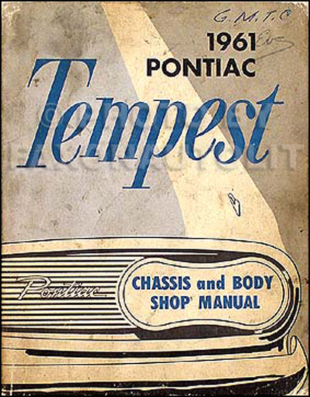 1961 Pontiac Tempest/LeMans/Safari Shop Manual Original