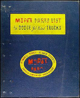 1961 Chrysler Plymouth DeSoto Illustrated Parts Book Original