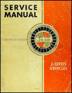 1962-1963 Jeep Gladiator & Wagoneer Shop Manual Original