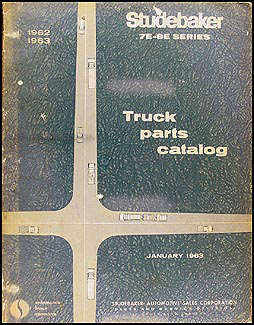 1962-1963 Studebaker Pickup & Truck Parts Book Original 7E-8E