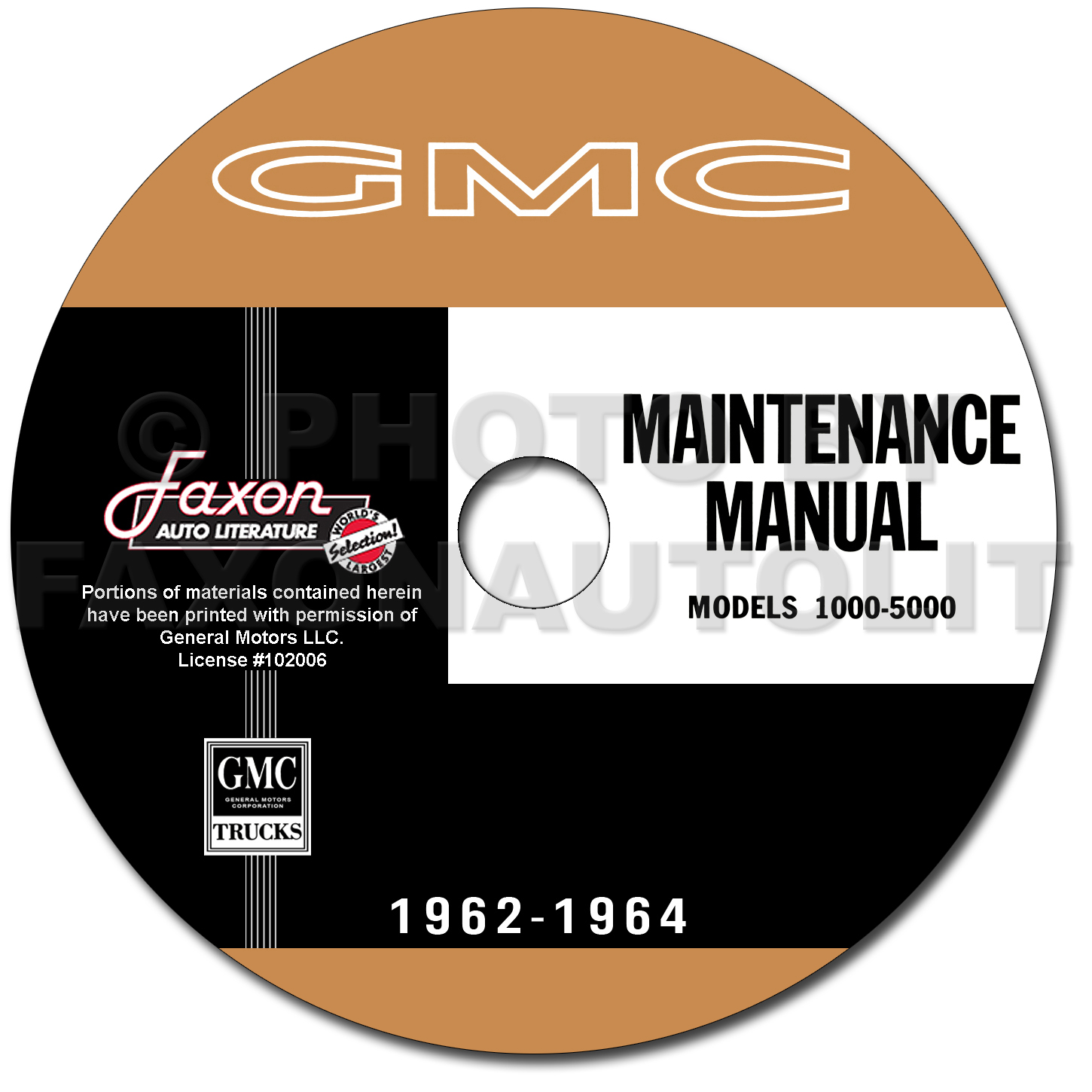 1962-1964 GMC 1000-5000 Truck Repair Shop Manuals on CD-ROM
