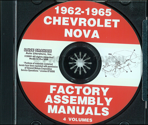 1962-1965 Chevy II and Nova Assembly Manuals on CD-ROM