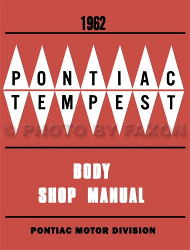 1962 Pontiac Body Repair Manual Reprint