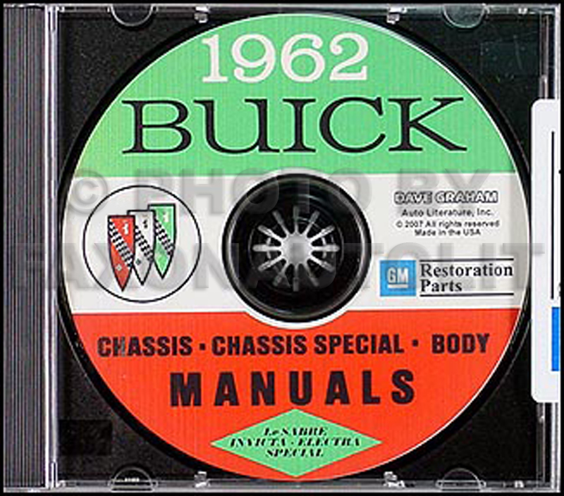1962 Buick CD-ROM Shop Manual & Body Manual all models