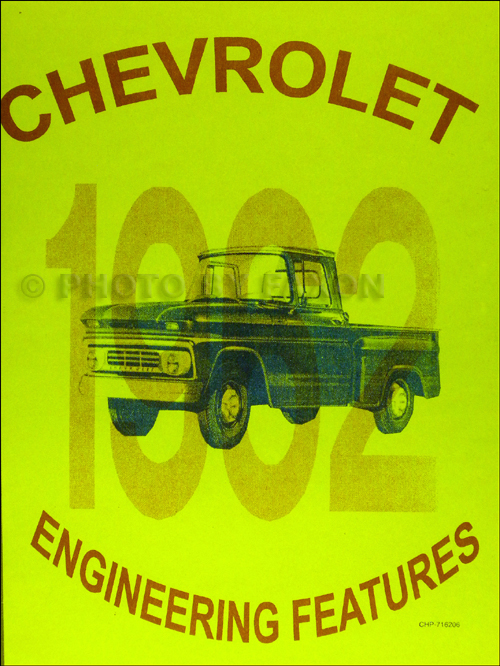 1962 Chevrolet Truck Engineering Features Manual Reprint