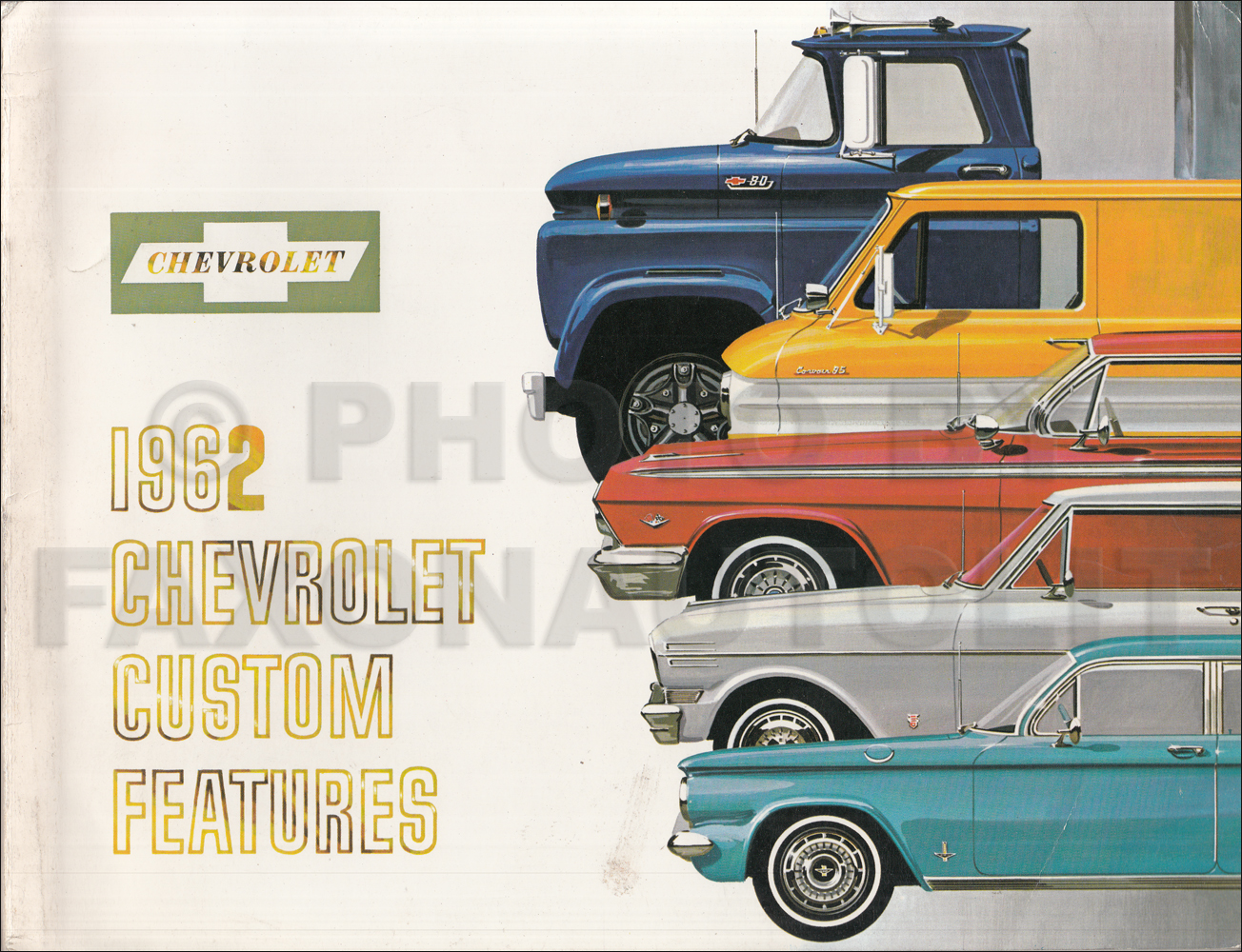 1962 Chevrolet Custom Feature Accessories Dealer Album Original