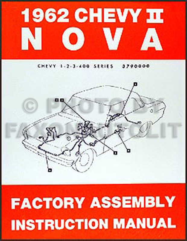 1962 Chevy II & Nova Bound Reprint Factory Assembly Manual