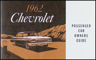 1962 chevrolet car reprint owner manual impala, ss, biscayne, bel air  faxon auto literature
