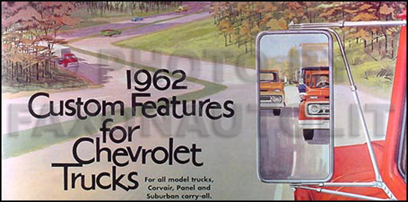 1962 Chevy Van, Pickup & Truck Reprint Color Accessory Catalog