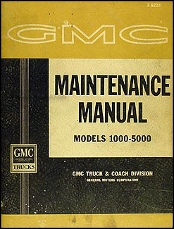 1962 GMC 1000-5000 Repair Manual Original