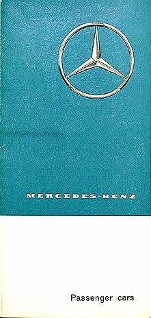1963 Mercedes Sales Folder Original--All Models