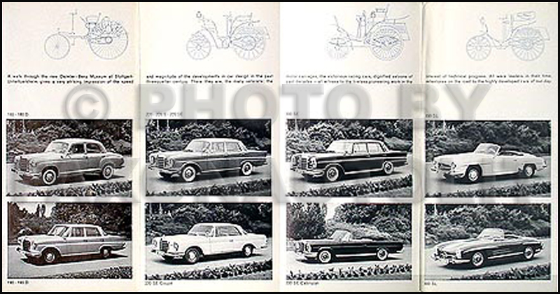 1962 Mercedes Sales Folder Original--All Models