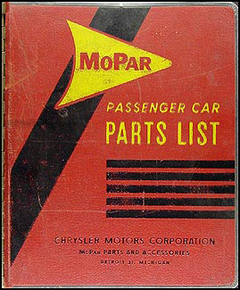 1962 MoPar Parts Book Original