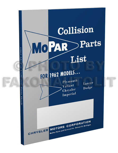 1962 MoPar Body Collision Parts Book Reprint