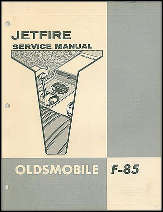 1962 Oldsmobile Jetfire Repair Manual Supplement Original
