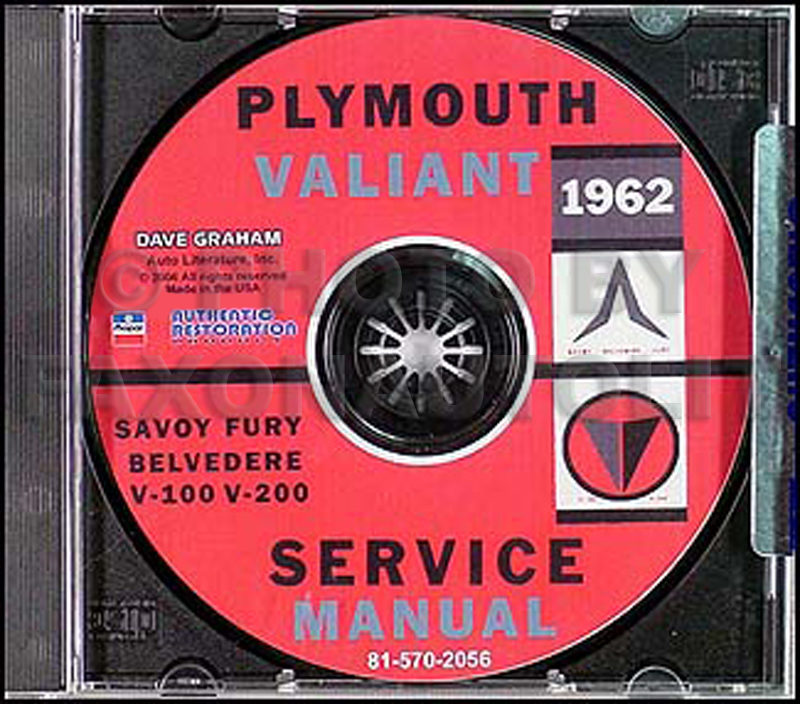 1962 Plymouth Shop Manual on CD-ROM