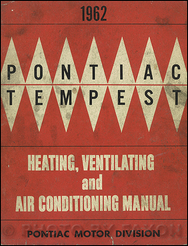 1963 Pontiac Air Conditioning Repair Manual Original