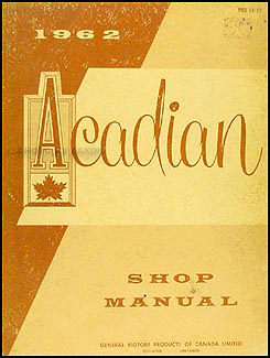 1962 Pontiac Acadian Repair Manual Original (Canadian)