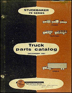 1962 Studebaker Pickup & Truck Parts Book 7E Original