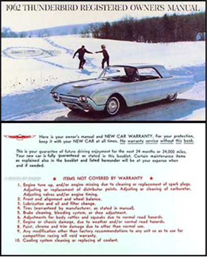 ford thunderbird owners manual reprint
