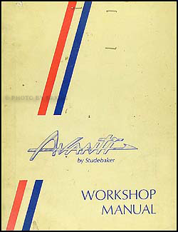 1963-1964 Studebaker Avanti Shop Manual Original