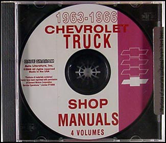 1963-1966 Chevrolet Pickup and Truck CD Shop Manual
