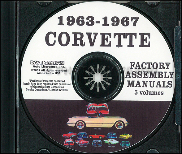 1963-1967 Chevrolet Corvette Assembly Manual on CD-ROM