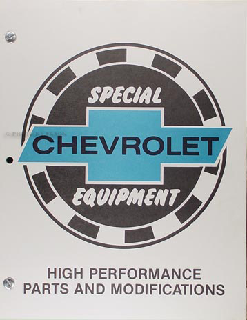 1963-1972 Chevrolet High-Performance Parts Book Reprint