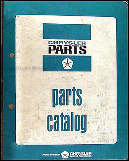 1967 MoPar Parts Book Original