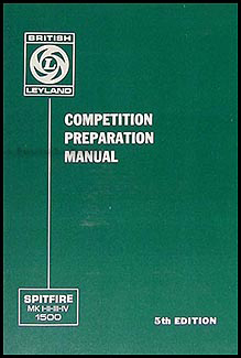 1963-1980 Triumph Spitfire Competition Preparation Manual Reprint