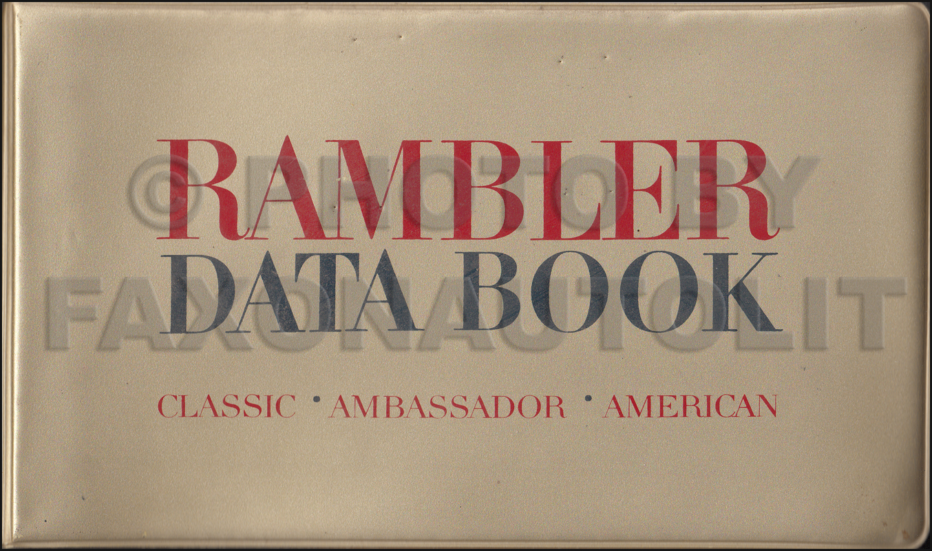 1963 AMC Data Book Original