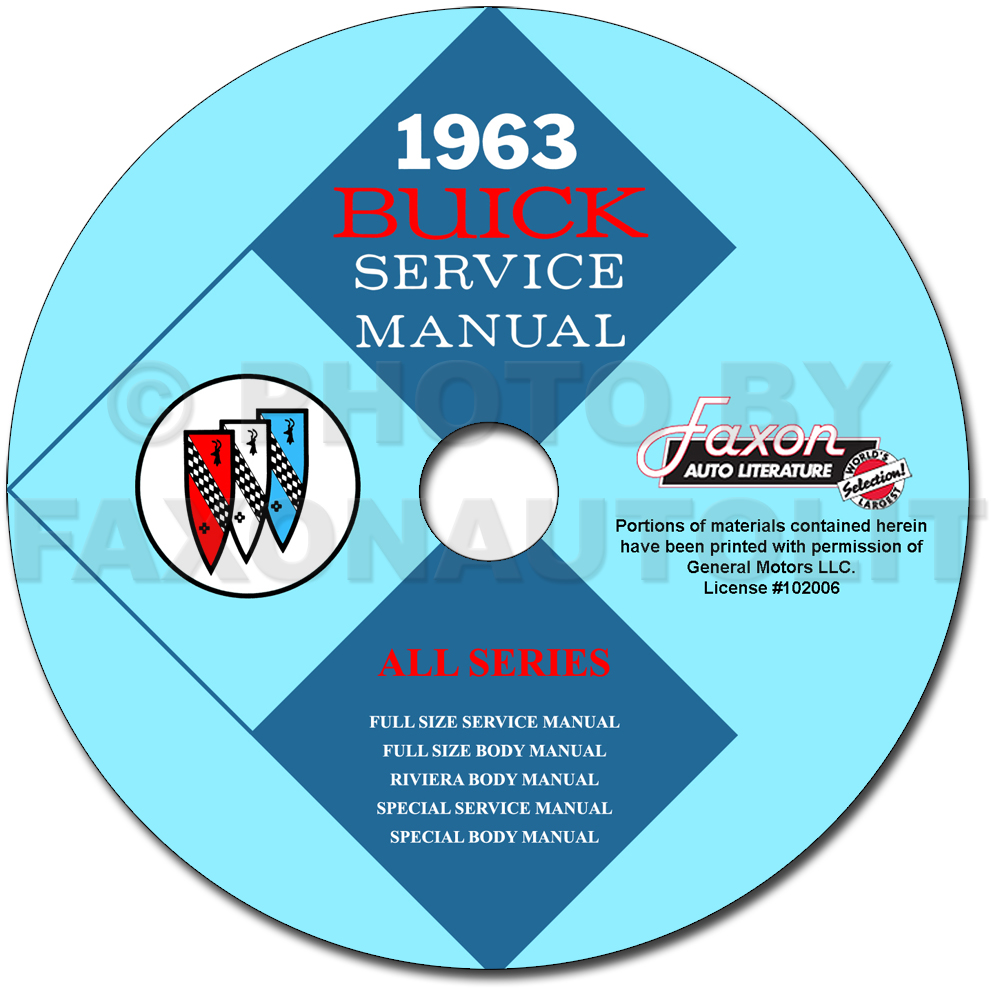 1963 Buick CD-ROM Shop Manual & Body Manual