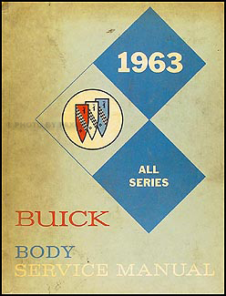 1963 Buick Body Manual Original - All Series
