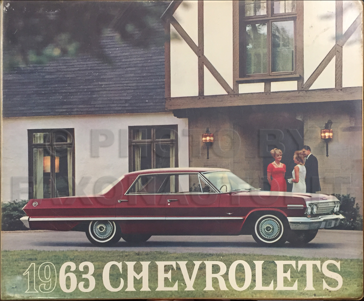 1963 Chevrolet Car Color and Upholstery Dealer Album Original