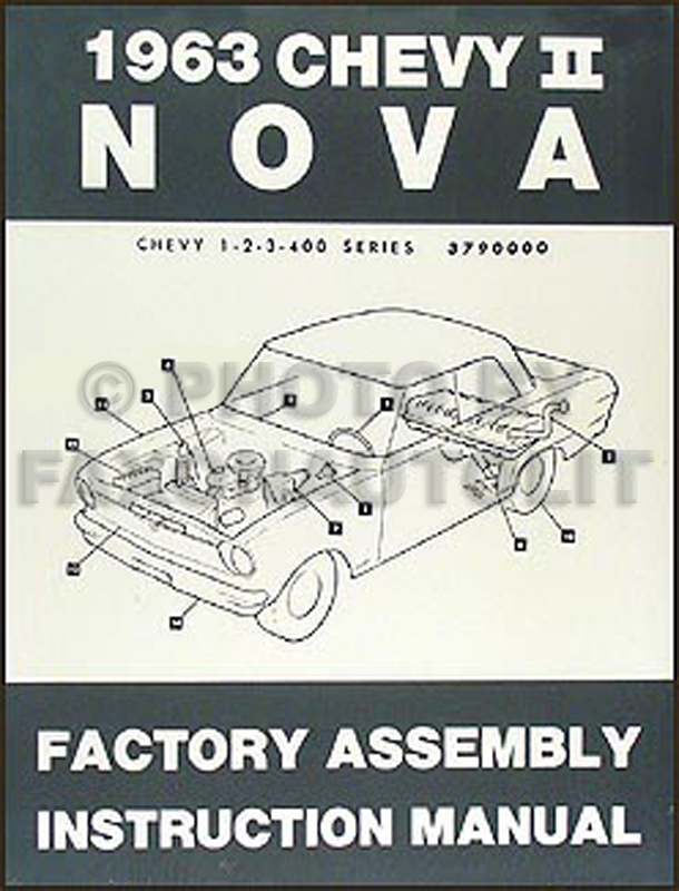 1963 Chevy II & Nova Bound Assembly Manual Reprint