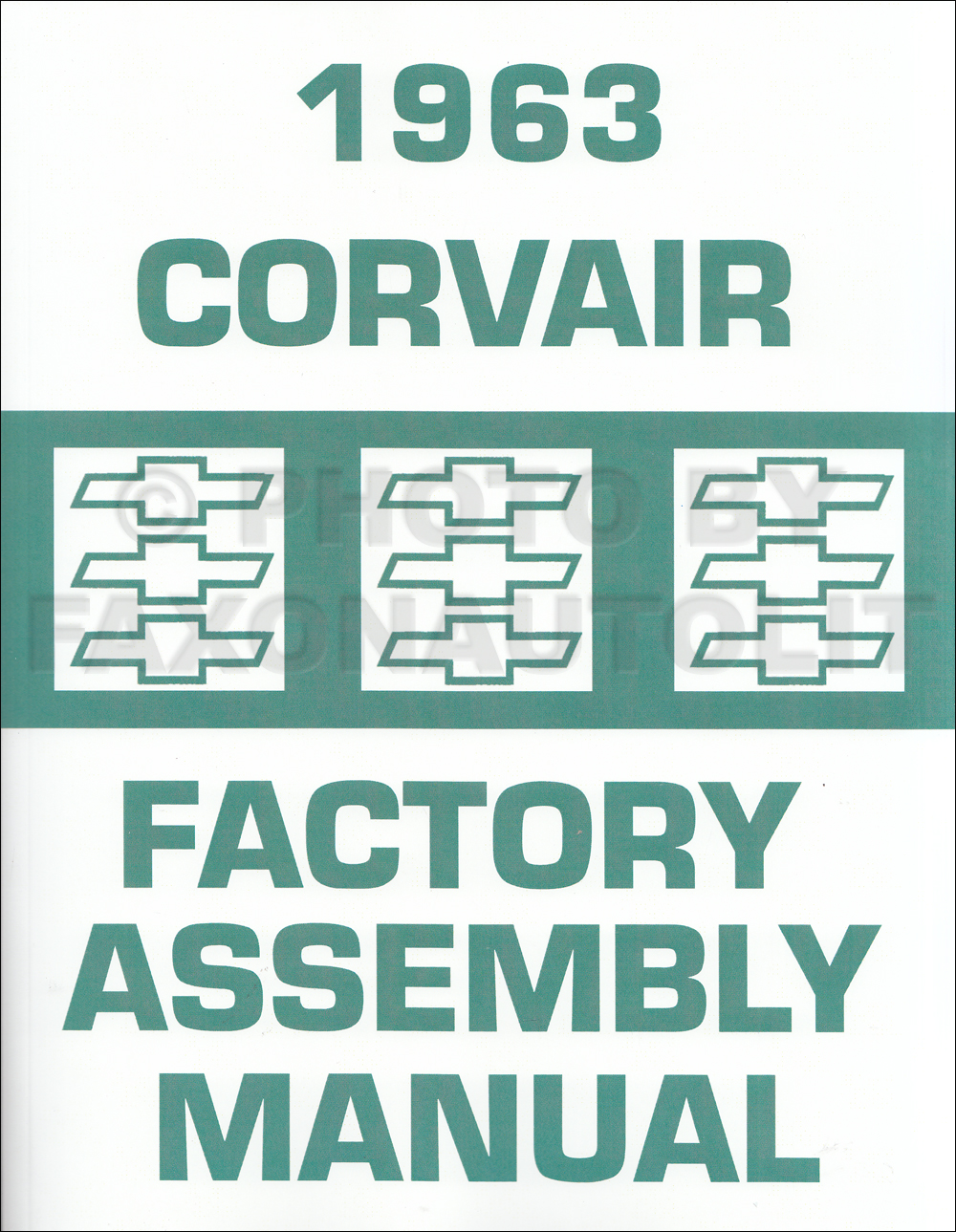 1963 Chevy Corvair and Monza Assembly Manual Reprint